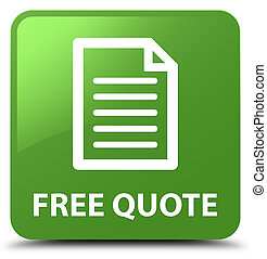 Free quote (page icon) soft green square button