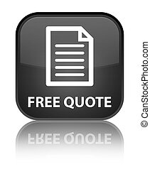 Free quote (page icon) special black square button