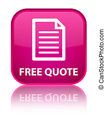 Free quote (page icon) special pink square button