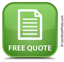 Free quote (page icon) special soft green square button