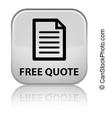 Free quote (page icon) special white square button