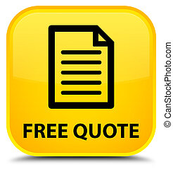 Free quote (page icon) special yellow square button