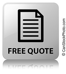 Free quote (page icon) white square button