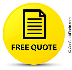 Free quote (page icon) yellow round button