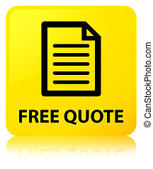 Free quote (page icon) yellow square button