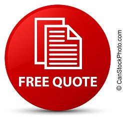 Free quote red round button