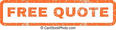 Free Quote Rubber Stamp