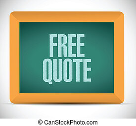 free quote sign illustration design