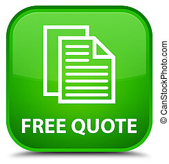 Free quote special green square button