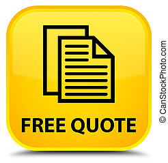 Free quote special yellow square button