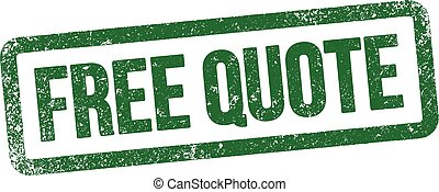 """Free Quote stamp - Vector illustration of """"Free Quote"""" stamp..."""