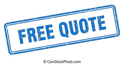 free quote stamp. square grunge sign on white background