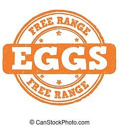 Free range stamp - Free range grunge rubber stamp on white...