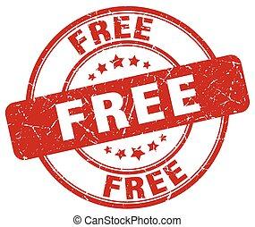 free red grunge round vintage rubber stamp