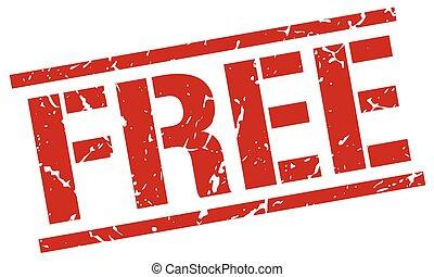free red grunge square vintage rubber stamp
