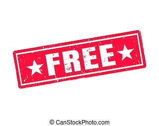 free red stamp style