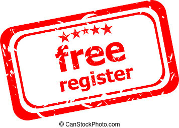 free register red stamp