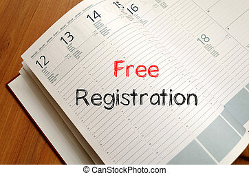 Free registration write on notebook