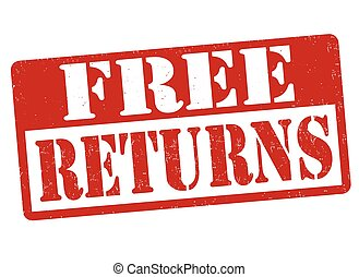 Free returns sign or stamp