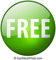 Free Round Green Glass Shiny Button