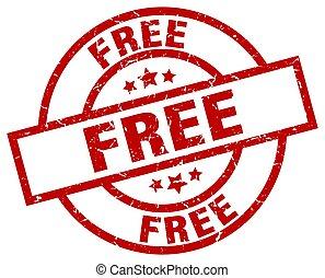 free round red grunge stamp