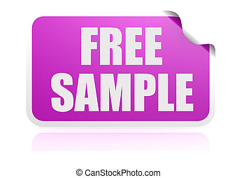 Free sample purple sticker