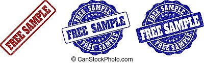 FREE SAMPLE Scratched Stamp Seals