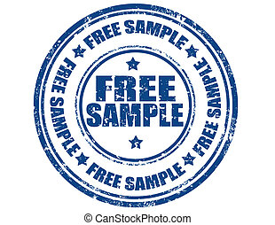 Free sample - Grunge rubber stamp with text Free...