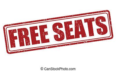 Free seats stamp