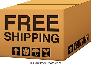 Free Shipping - A box with free shipping text