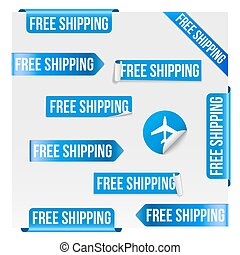 Free Shipping Blue Label Design