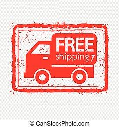 Free Shipping Box icon Illustration symbol design