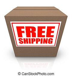 Free Shipping Brown Cardboard Box Order Shipment - A brown...
