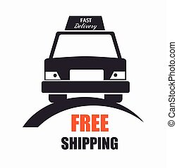 free shipping car front view icon