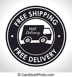 free shipping fast delivery banner