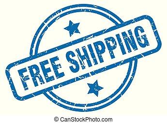 free shipping grunge stamp