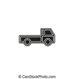 free shipping icon, delivery truck