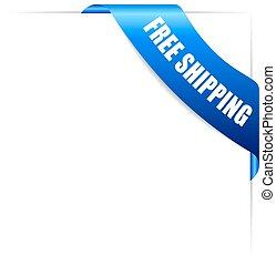 Free shipping icon - Free shipping corner ribbon icon