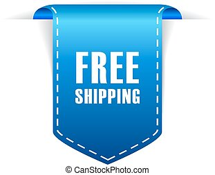 Free shipping icon - Free shipping ribbon icon