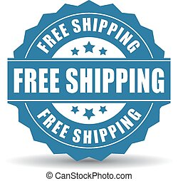 Free shipping icon on white background