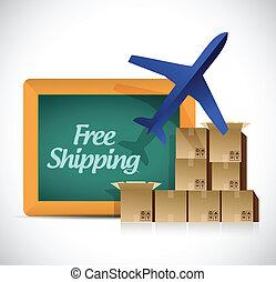 free shipping illustration design