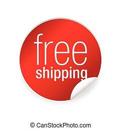 Free shipping label sticker
