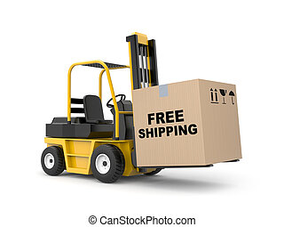 Free shipping metaphor - Delivery metaphor. Isolated on...