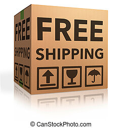 free shipping package from online internet webshop cardboard...