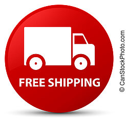Free shipping red round button