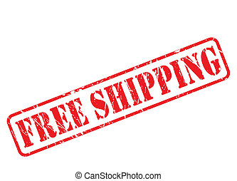 Free shipping red stamp text