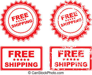 Free shipping rubber stamp grunge vector illustration eps 10