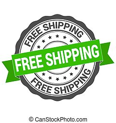 free shipping sign. round label. Free shipping vector badge