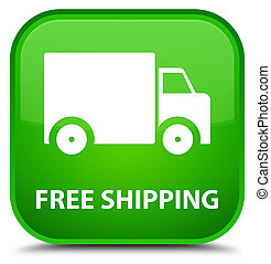 Free shipping special green square button