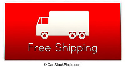 free shipping truck sign